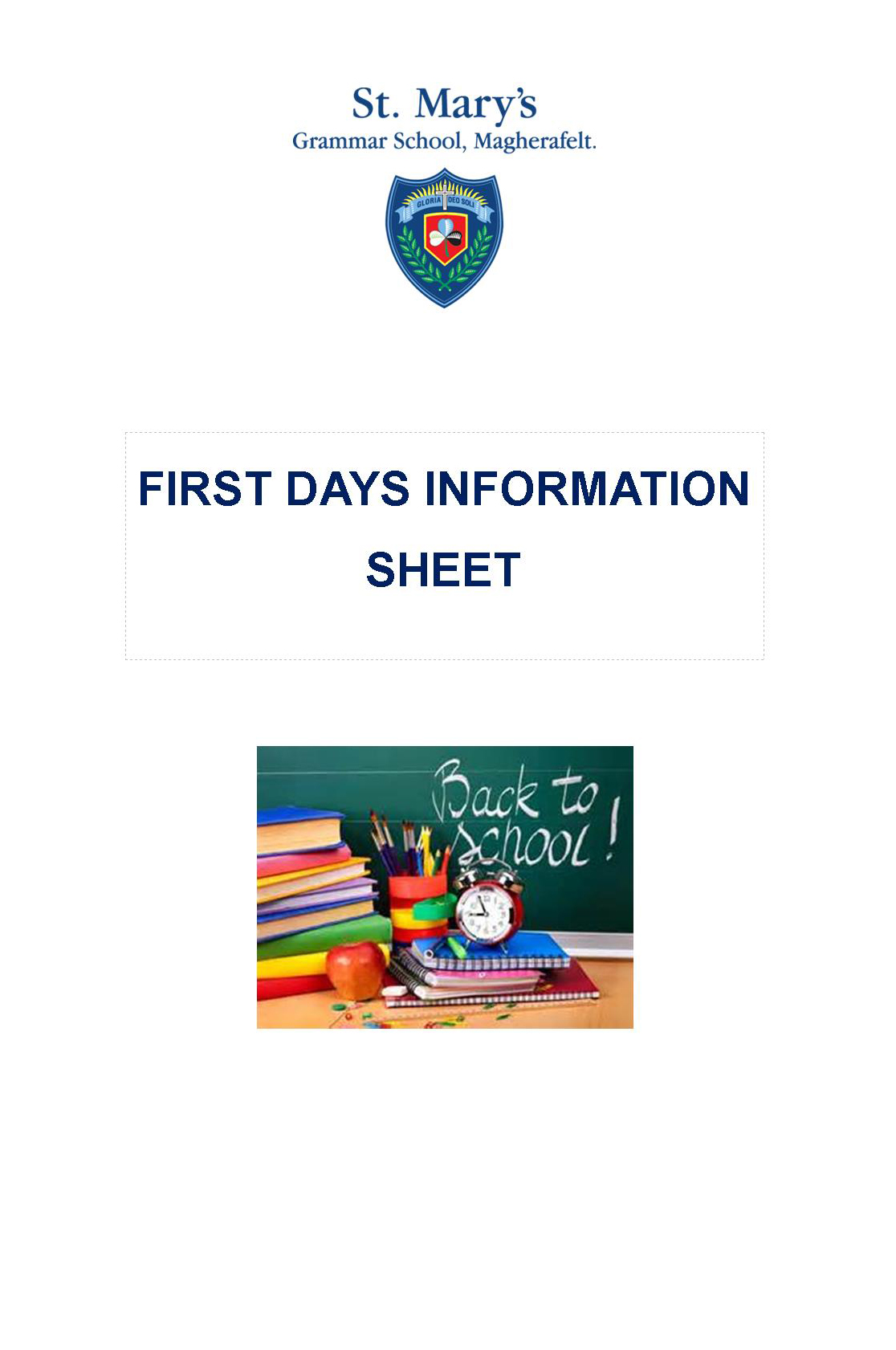 First Days Information Sheet