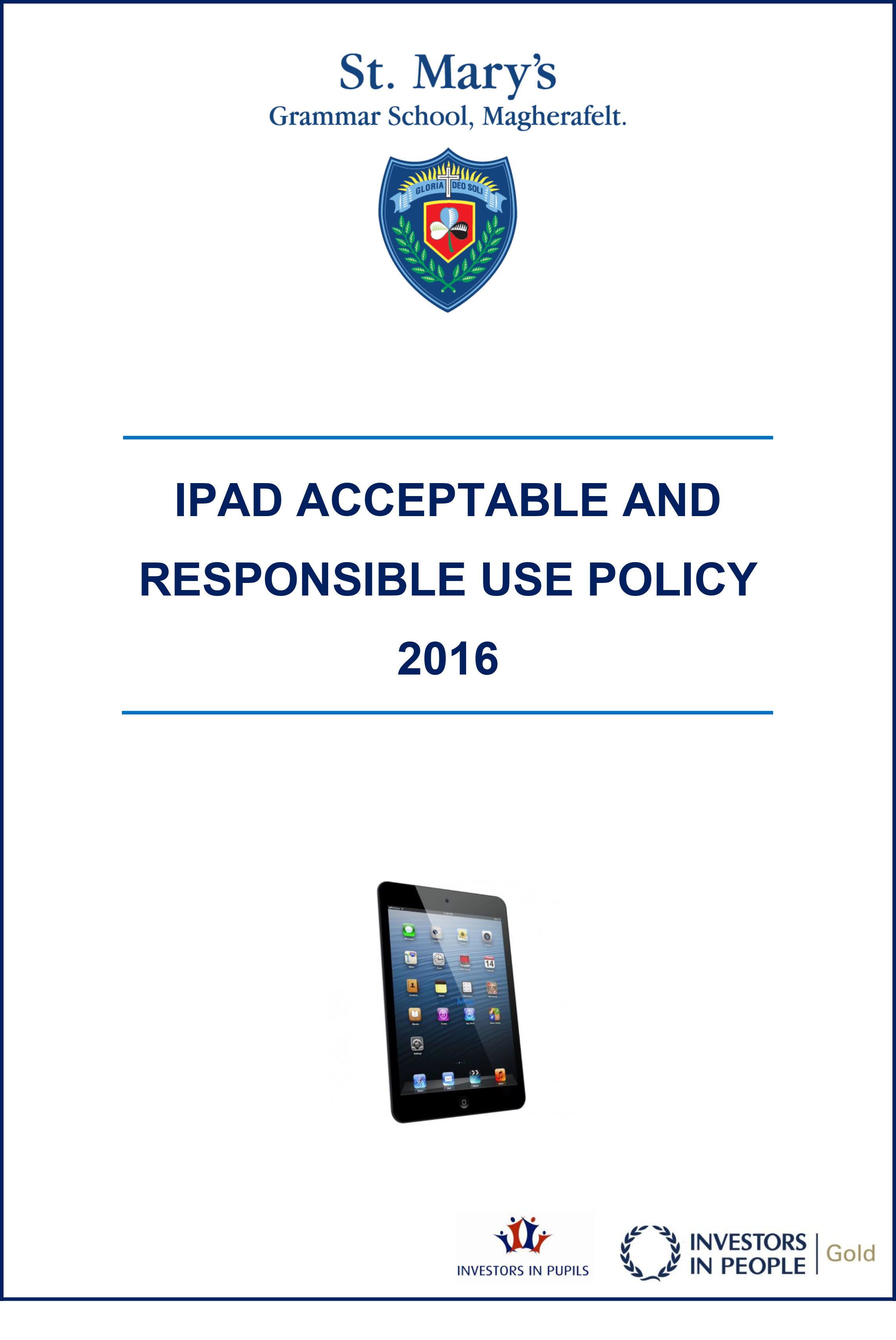 IPAD ACCEPTABLE AND RESPONSIBLE USE POLICY