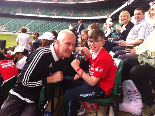 Oisin went to Twickenham to collect his award